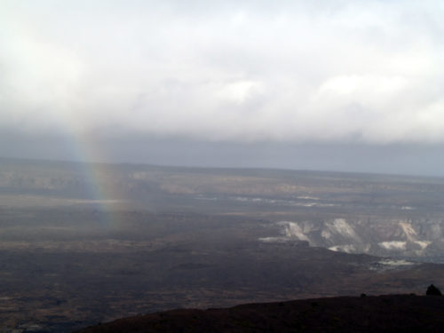 Rainbow over the volcano - Curiosity Trek - Hawaii