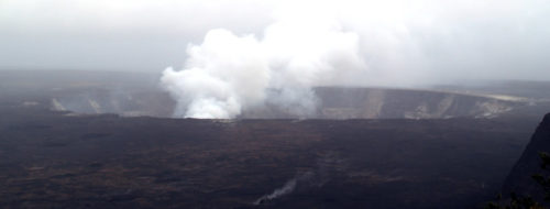 View of the Kīlauea Volcano summit caldera from the Jaggar Museum - Curiosity Trek - Hawaii