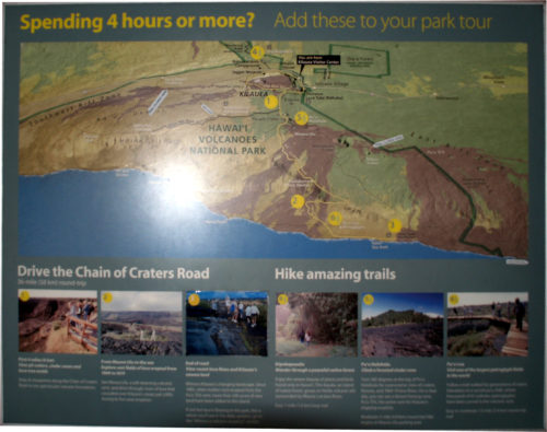 Spending 4 hours or more? Add these to your park tour Drive the Chain of Craters Road Hike amazing trails - Curiosity Trek - Hawaii