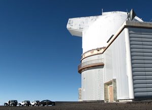 One of the observatories, NASA Infrared Telescope Facility, I think. - Curiosity Trek - Hawaii