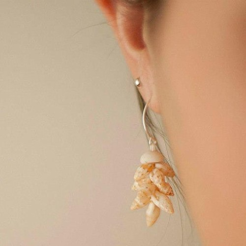 Laiki Lenalena Shell Earrings Crafted by Makamae O Molokai Treasures from Molokai in Hawaii – Hawaii – Curiosity Trek