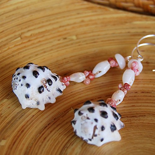 Pupu Au Kahelelani Shell Earrings Crafted by Makamae O Molokai Treasures from Molokai in Hawaii – Hawaii – Curiosity Trek