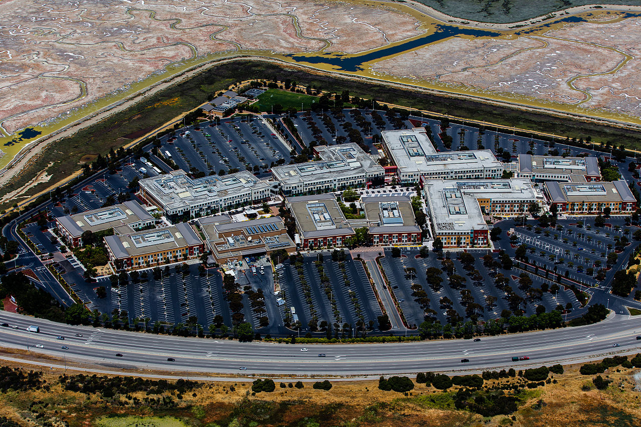 The Facebook main campus is in Menlo Park, California in the transformed Sun Microsystems Campus and Tyco Electronics campus.