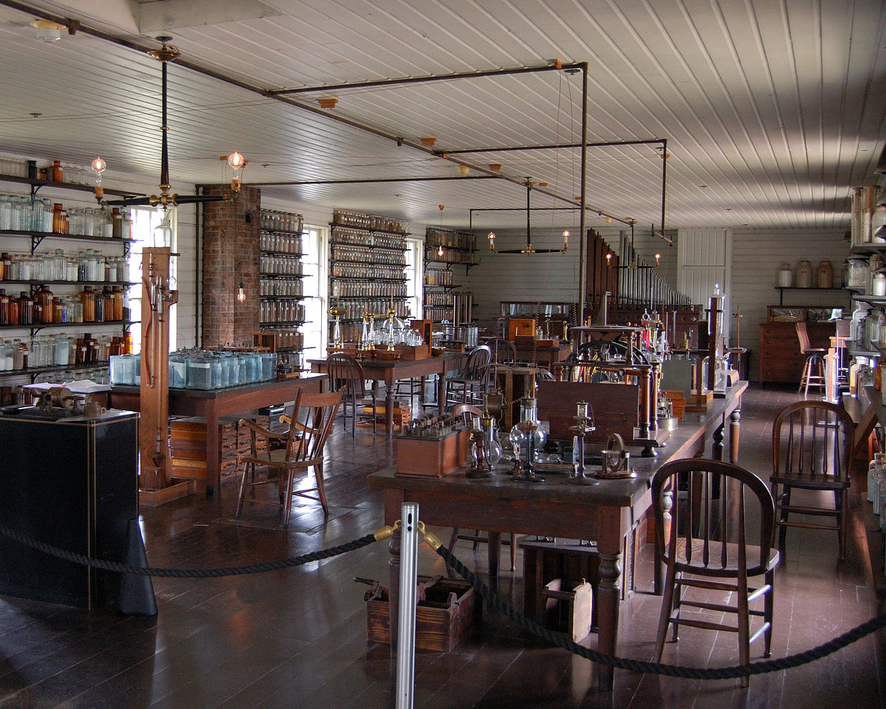 Edison's Menlo Park laboratory in New Jersey was the world's first research and development facility.