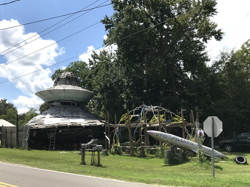 The UFO Welcome Center is at 4004 Homestead Road in Bowman, South Carolina - UFO Welcome Center – Curiosity Trek